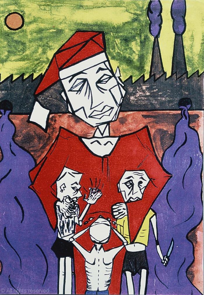 46- Paz na terra aos homens de boa vontade - Acrílico sobre papel - 21x15cm - 1997©