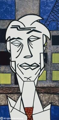 47- O executivo - Acrílico sobre tela - 60x30cm - 1998 - liria artist