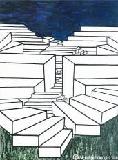 55- Escadas - Acrílico sobre tela - 40x30cm - 2007