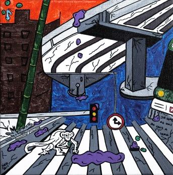 2012_75- Choveu I - Canvas Board - 20x20cm - 2012©