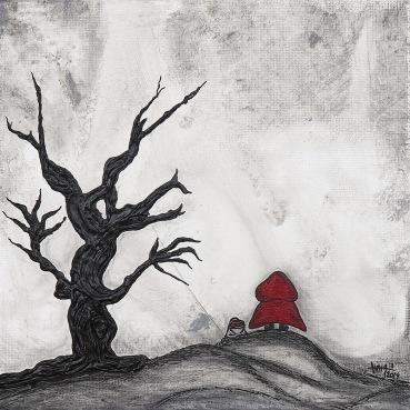 2014_108 - Quem tem medo - Acrílico canvas board - 20x20cm 2014©