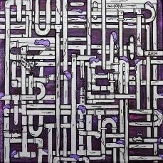 2014_110- Distribuição de Água em SP-Acrylic on canvas board - 20x20cm -2014©