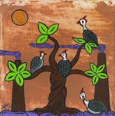 2014_116- Árvore de Galinhas - Acrílico sobre Canvas board - 20x20cm - 2014©