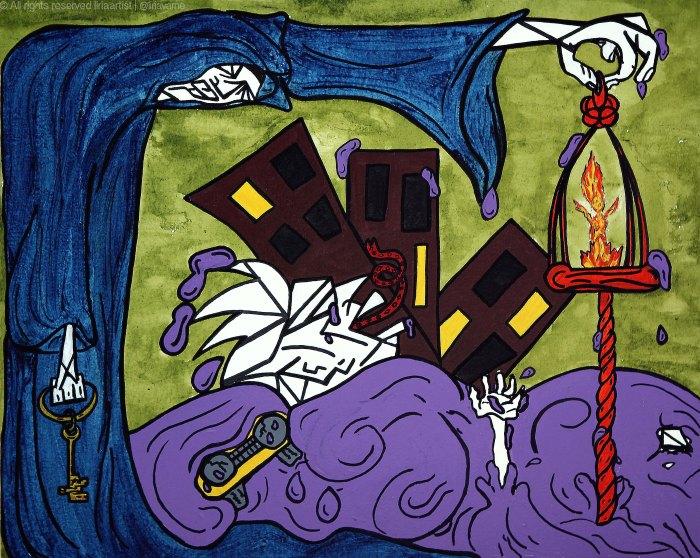 21- Subviver - Acrílico sobre tela - 50x40cm - 2012©