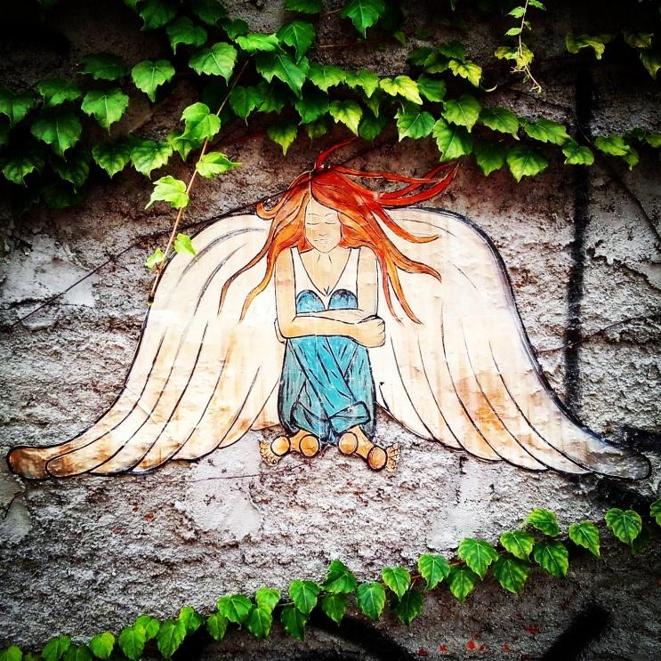 Liria Varne #Angel #Anjos #lambe ambe #Streetart