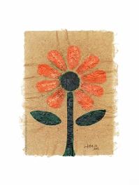 2015-137 - Flores Miranda - Acrílico sobre Papiro 30x21cm - 2015©