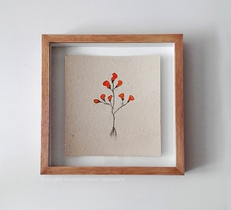 2017_145 - Flores Miranda - Acrílico sobre papel Paraná - 19x18cm - 2017©